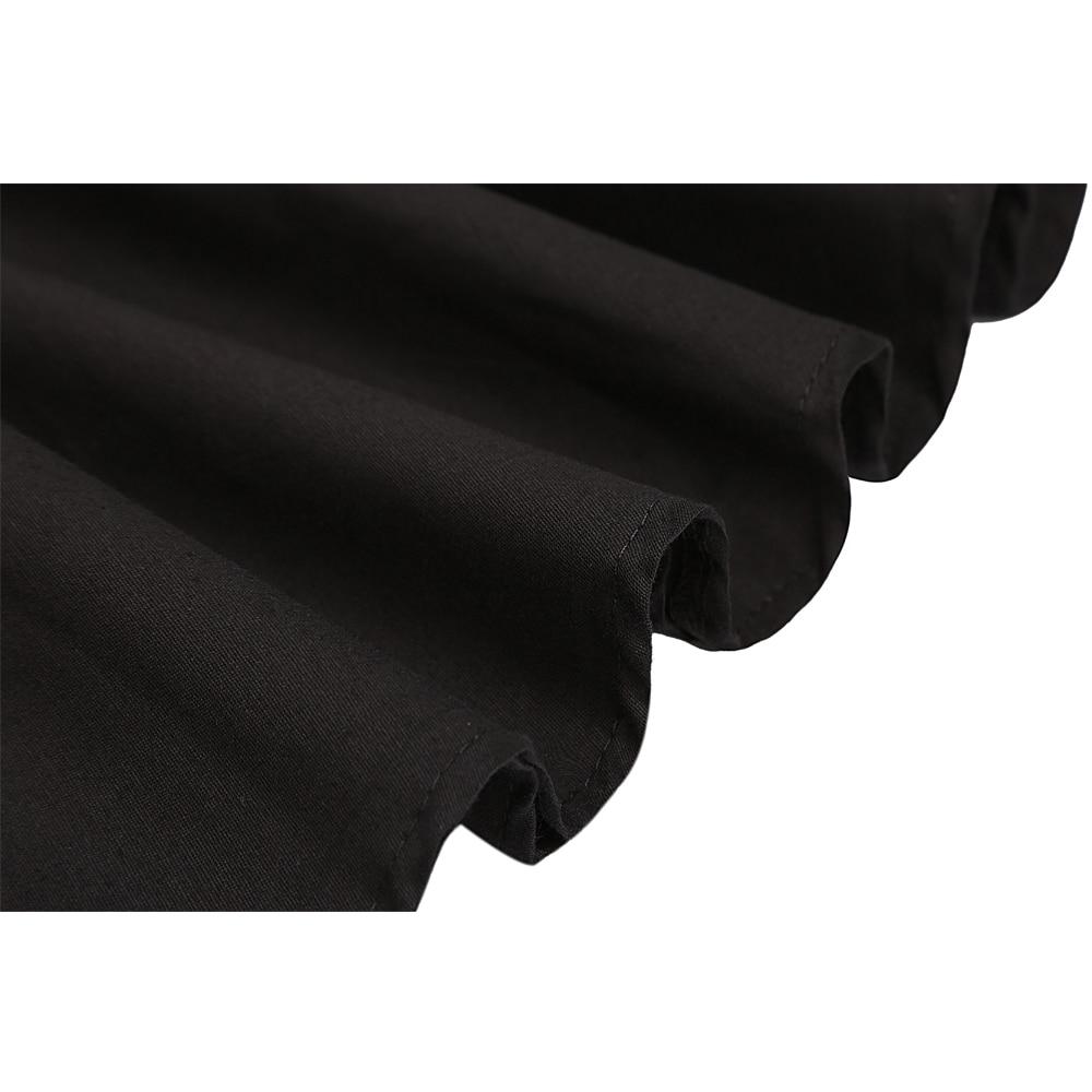Image 5 - High Waist Runway Pleat Skirt Black Knee Length Flared Skirts Retro Vintage 50s Rockabilly Swing Skirts Women Faldas Saia Jupe-in Skirts from Women's Clothing