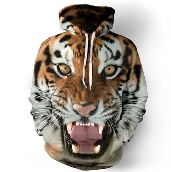 2018 New Style 3D Printed Tiger Men Discount Men Cotton Hoodies On Hot Sales Free Shipping Men Sweatshirts & Hoodies