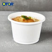 OTOR 1000 шт 8 унций 10 унций одноразовый контейнер для пищевых продуктов для Пудинг Желе Десерт пластиковая мини-коробка для дома вечерние товары для свадебной вечеринки