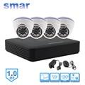 Мини 4 Канала CCTV NVR Ч. 264 HDMI 1080 P Выход Видео Система Безопасности 1.0MP 720 P IP Комплект Камеры 24 ИК-Светодиодов День Ночь Видеонаблюдения