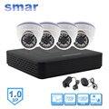 Mini 4 Canales CCTV NVR H. 264 Sistema de Seguridad de Vídeo de Salida HDMI 1080 P 1.0MP 720 P del IP Kit de la Cámara 24 Led IR Día y Noche de Vigilancia