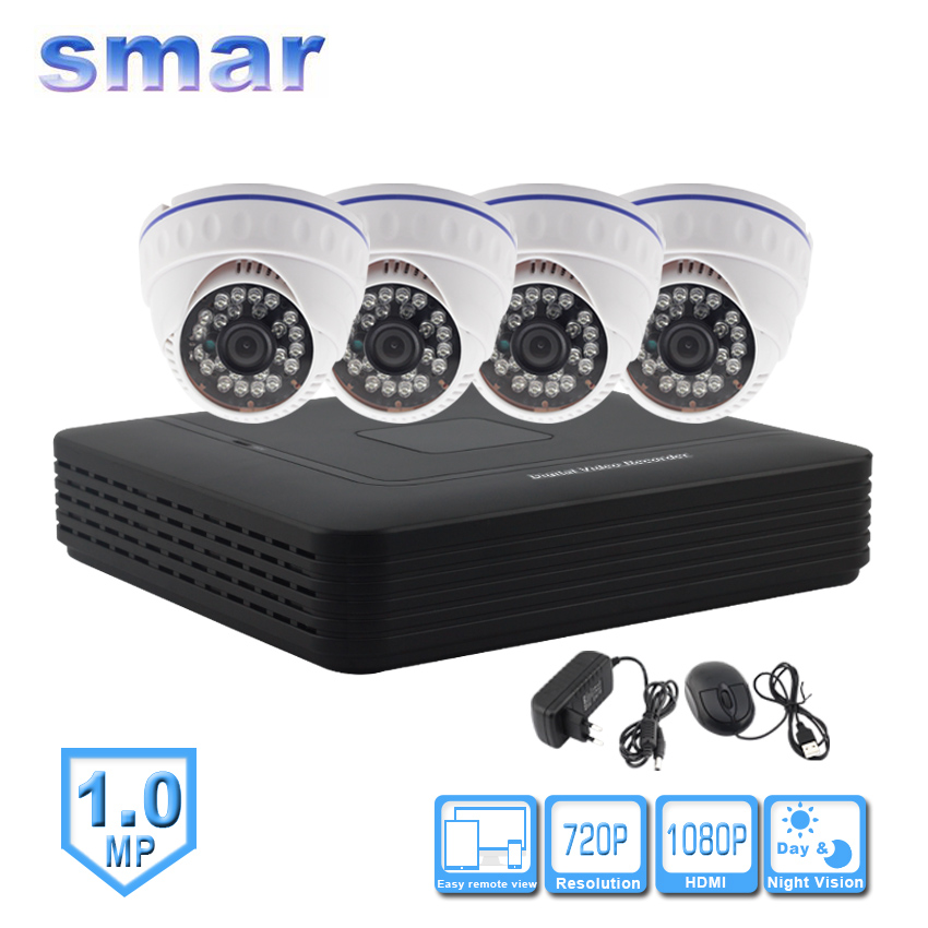 Mini 4 Channel CCTV NVR H. 264 HDMI 1080P Output Video Security System 1.0MP 720P IP Camera Kit 24 IR Led Day Night Surveillance cctv 4 channel h 264 ip surveillance nvr security ir waterproof camera systems