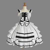 (LLT038) Lolita Dresses Short Sleeveless Japan palace snow spinning lace bowknot cosplay lolita dress halloween party costume