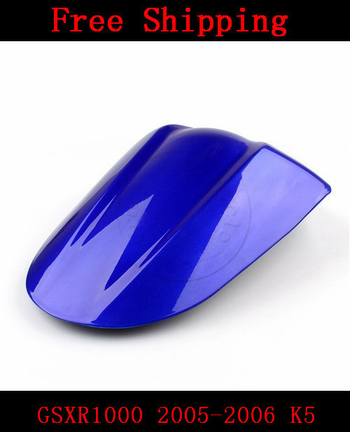 For Suzuki GSXR1000 2005-2006 K5 motorbike seat cover Brand New GSX R 1000 Motorcycle Blue fairing rear sear cowl cover for suzuki gsxr1000 2005 2006 k5 motorbike seat cover brand new gsx r 1000 motorcycle carbon fairing rear sear cowl cover