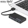 Easyidea micro usb hub 3.0 super velocidade 5 gbps usb 3.0 hub 4 Portas USB Hub Splitter Adaptador Ultra Slim Para Laptop Tablet Notebook