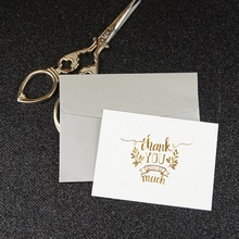 multi-use 25pcs Mini thank you Card gold with silver envelope Scrapbooking party invitation cards greeting cards business card 25pcs mini thank you card gold with blue envelope leave message cards lucky love valentine christmas party invitation letter