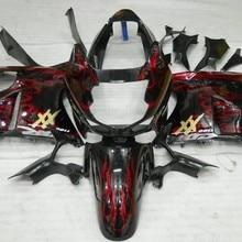Дешевые 96 97 Набор для CBR1100XX Blackbird 1996-2007 CBR 1100 XX Красный Пламя мотоциклов Обтекатели(литье под давлением