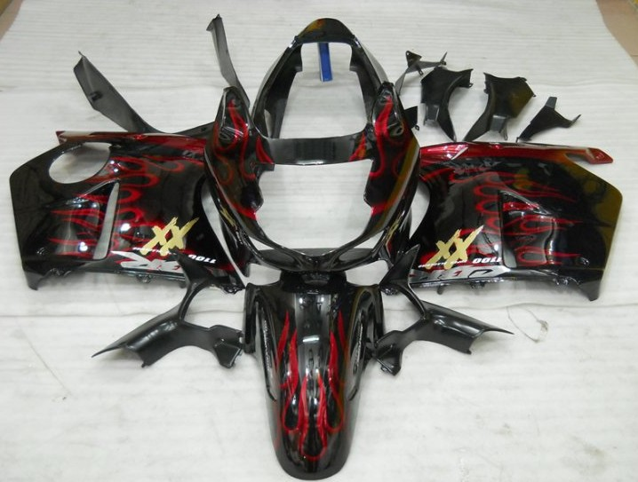 Hot Sales,cheap 96 97 Set For Honda CBR1100XX Blackbird 1996-2007 CBR 1100 XX Red Flame Motorcycle Fairings (Injection molding)