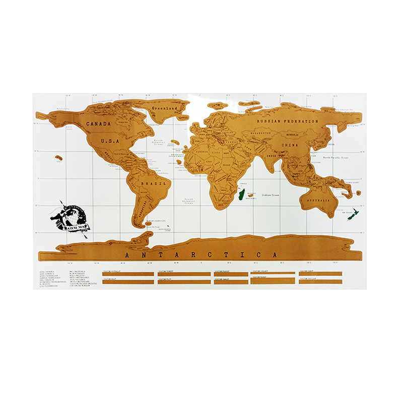 Aliexpress Buy Scratch Map Travel 88x52cm Wall Sticker – Personalized World Traveler Map Set