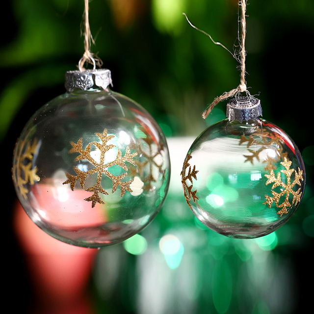 christmas ball ornament glass ballgold thin snowflake xmas tree decoration event party wedding