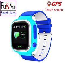 Fu&Y Bill Q90 GPS Positioning Children Watch 1.22 Inch Touch Screen SOS Smart Watch WI-FI Location PK Q80 Q60 Q750 Q730 Q50 V7K