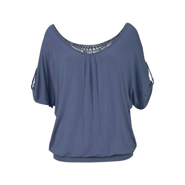 Tops de talla grande para mujer, blusa XXXXL 5XL con encaje calado en rojo y negro, ropa informal para mujer 3