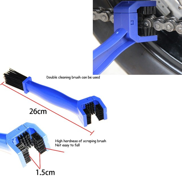 Universal Motorcycle Bike Chain Maintenance Cleaning Brush For kawasaki er6n  z650 ninja 300 versys 650
