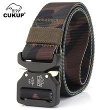 CUKUP Unisex Multifunction Military Fan Quick Release Buckle Training Outdoor Thickening Classic Camouflage Nylon Belts CBCK126