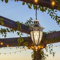 Открытый Люстра сад двор светильник потолочный светильник Открытый винограда огни прохода свет водонепроницаемый фонарь светодиодный све