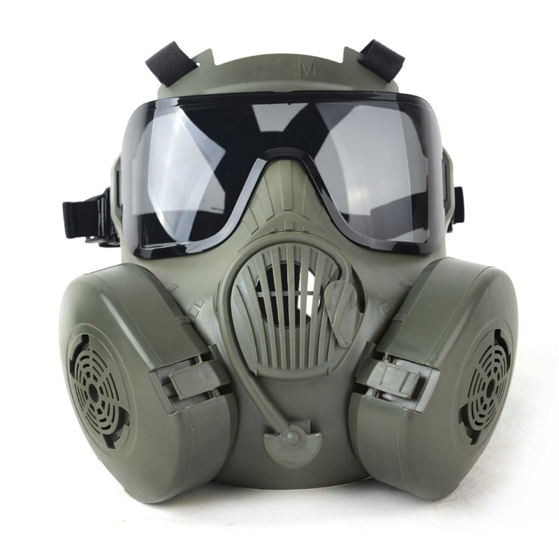 DC15 M50 Full Face Gas Mask Tactical Airsoft Paintball Skull Mask With Fan CS Wargame Cosplay