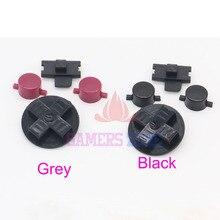 Juego de 10 botones para Nintendo Game Boy system, carcasa negra y gris, DMG 01