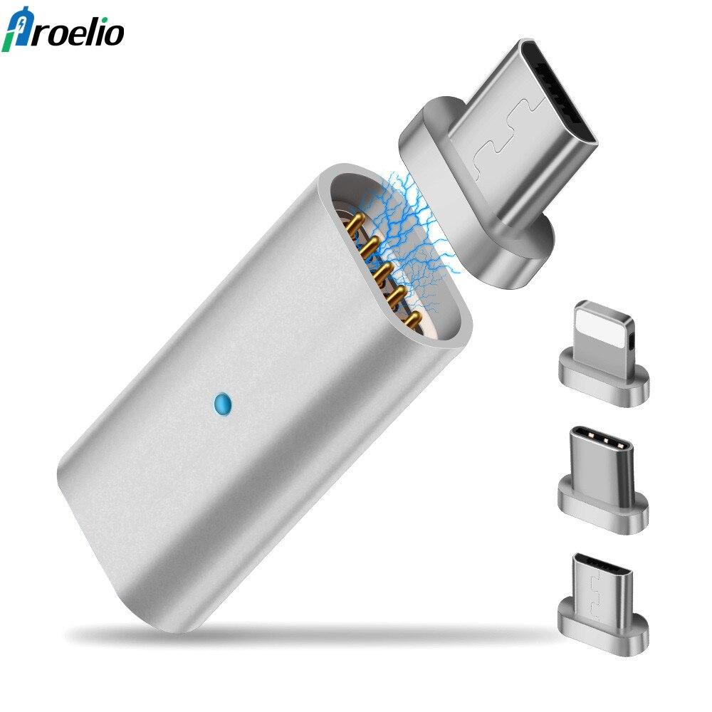 Магнитная micro USB Conver для Галай S9 для ios 3 в 1 для Android Тип c зарядный кабель Магнитный адаптер тип c для samsung S8