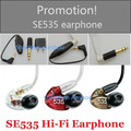 Promotion! HQ SE535 In-ear Earphones Headphones Sound Isolating Hifi earphones music stereo Headset 3.5mm earbuds with box