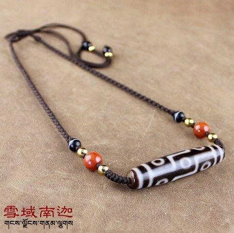 New Design Tibetan Fengshui Dzi Ji Beads Old Misterious Beads Chokers Necklace for Men & Women Qualitied Dzi Beads Free Shipping stylish beads round layered link design necklace for women