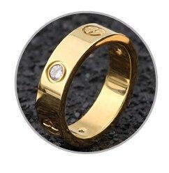 Розовое золото, кольцо из нержавеющей стали с кристаллом для женщин, ювелирные кольца для мужчин, обручальные кольца для женщин, подарки для помолвки - Цвет основного камня: gold crystal