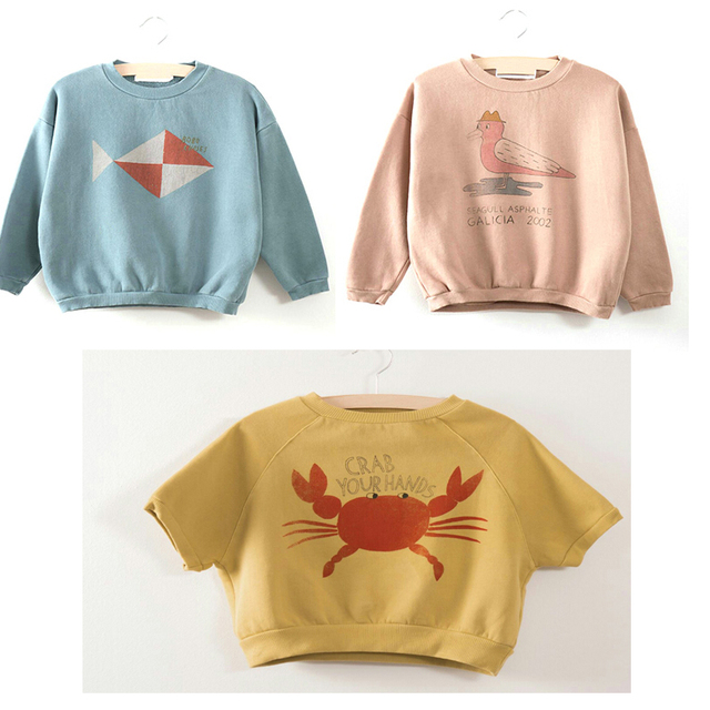 bbf2f2ee8 Kids Sweatshirt 2019 Autumn Winter Bobo Choses Tao Boys Girls Top ...