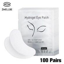 100 пар/упак. увлажняющие наклейки для кончиков глаз обертывания подушечки для ухода за глазами новые бумажные патчи под глазные подушечки для ресниц под глазные гель-патчи
