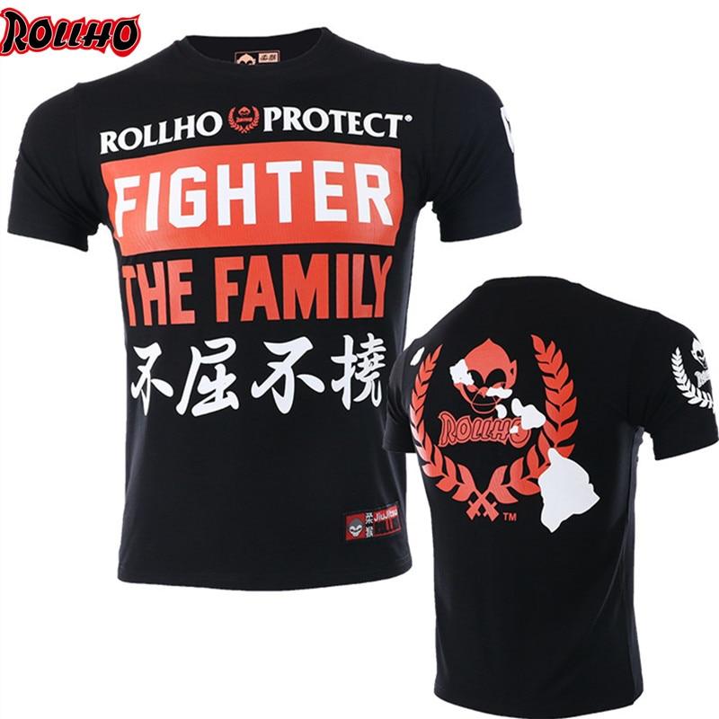 New Brand Bangkok Boxing MMA T Shirt Gym Tee Shirt Fighting Fighting Martial Arts Fitness Training Muay Thai T Shirt Men Homme