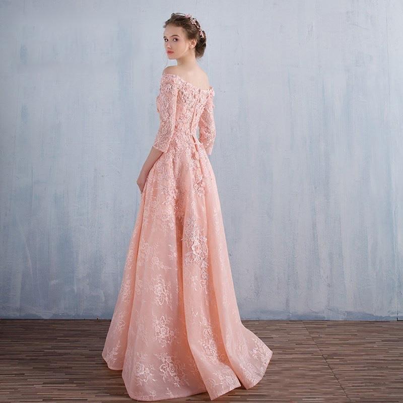 Último Piso Longitud de largo Vestidos de Baile Fuera Del Hombro ...