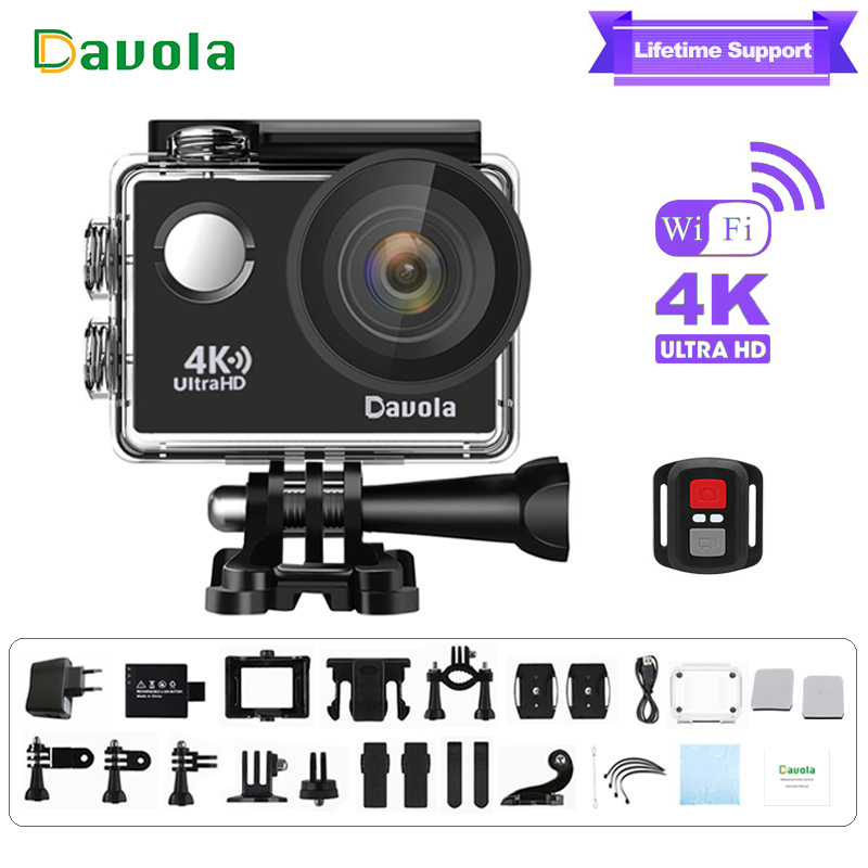 Action camera 4k sport waterproof underwater diving camera Davola HD 1080p Mini wifi go outdoor sports helmet video pro cam dvr wimius 4k action cam wifi 20m mini sport helmet fpv camera full hd 1080p go waterproof underwater 30m pro dvr for bike motorcyle