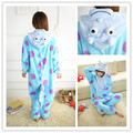 fashion couple cartoon animal pajamas Halloween Costume for women adult Pyjamas casual fleece nightwear ladies onesie jumpsuit