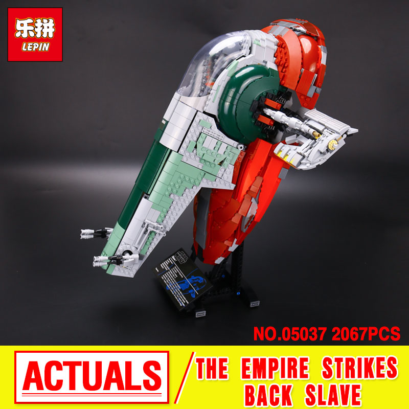 NEW LEPIN 05037 UCS Slave I Slave NO.1 Model Building Block Bricks Toys Kits  Compatible 75060 Children Gifts lepin 22001 pirate ship imperial warships model building block briks toys gift 1717pcs compatible legoed 10210