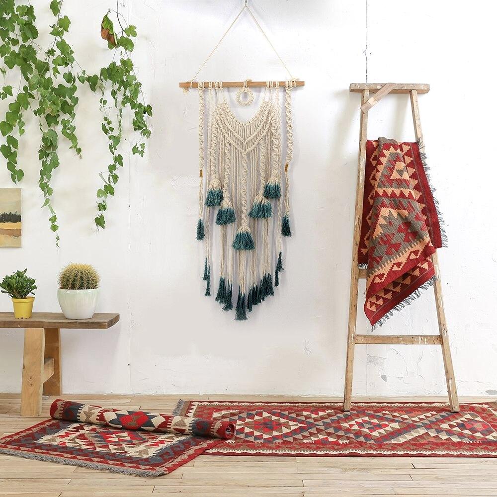 Maison Textile macramé boho tapisserie décoration de la maison nouveau artisanat artisanal bohème tissé tapisserie livraison directe JUL27