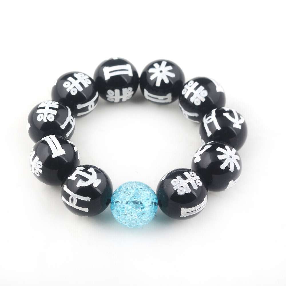 Black panther Charm Rune Crystal Bracelet Fashion Wakanda T'Challa KIMOYO Mysterious Rune Crystal Men and Women Wild Bracelet