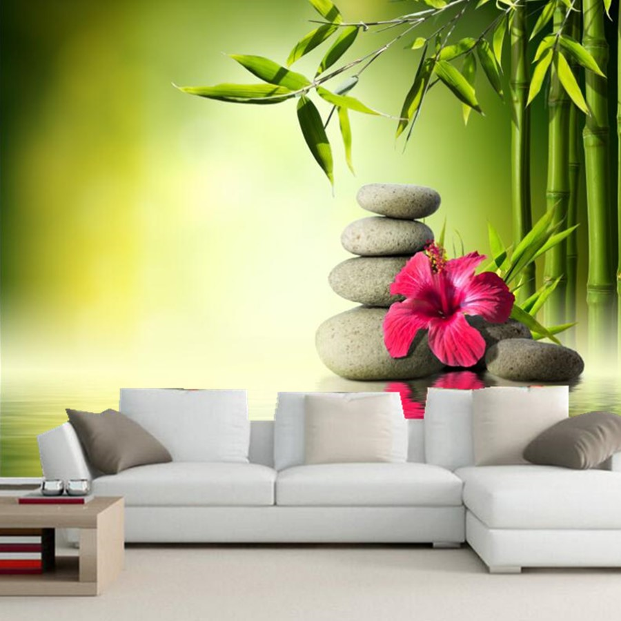Bela Flor Narciso Em Gua Floral Rolos De Papel De Parede Mural Sala
