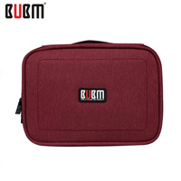 Portable Waterproof Large Double Layer Cable Organizer Bag Carry Case Can Put HDD USB Flash Drive