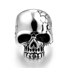 Drop Ship Big Punk Biker Skull Ring For Man Stainless Steel Unique Punk Men Cool Jewelry Ring Size 8 9 10 11 GMYR184