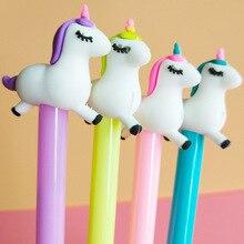 60PCS/SET Creative Cartoon Unicorn Neutral Pen 0.38MM Students Writing Office Japanese and Korean Girl Heart