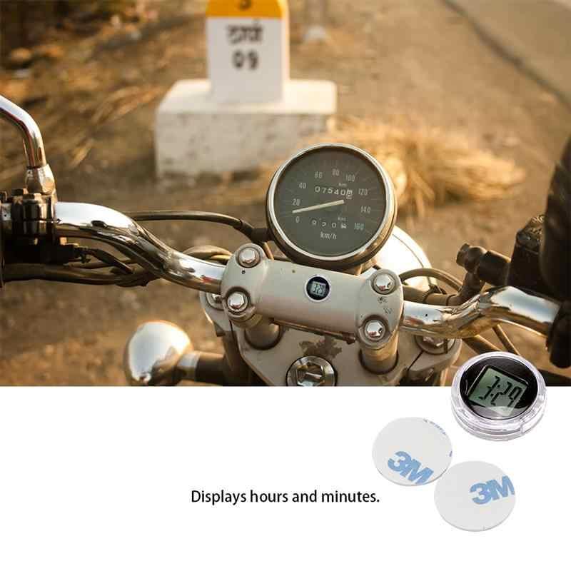 Mini universal motocicleta relógios relógio à prova dwaterproof água vara-em moto montar relógio de moto relógio digital relógio de moto preto durável