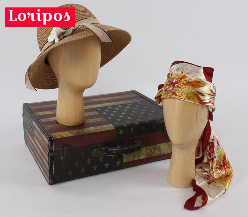 Высокое качество цельная древесина голова модель торговый центр магазин выставочный витрина для шляп сувениры крышка Подставка для парика витрина - 2