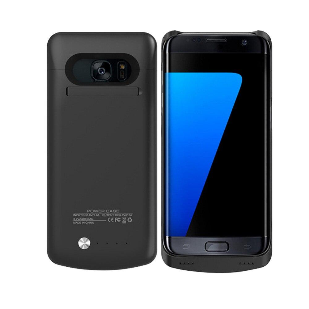 bilder für 5200 Mah Telefon Power Case Für Samsung Galaxy S7 rand Portable Externe Strom Fall Ladegerät s7 rand Backup Ladegerät fall