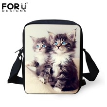 FORUDESIGNS Cute Animal Cat Dog Printing School Bags For Kid