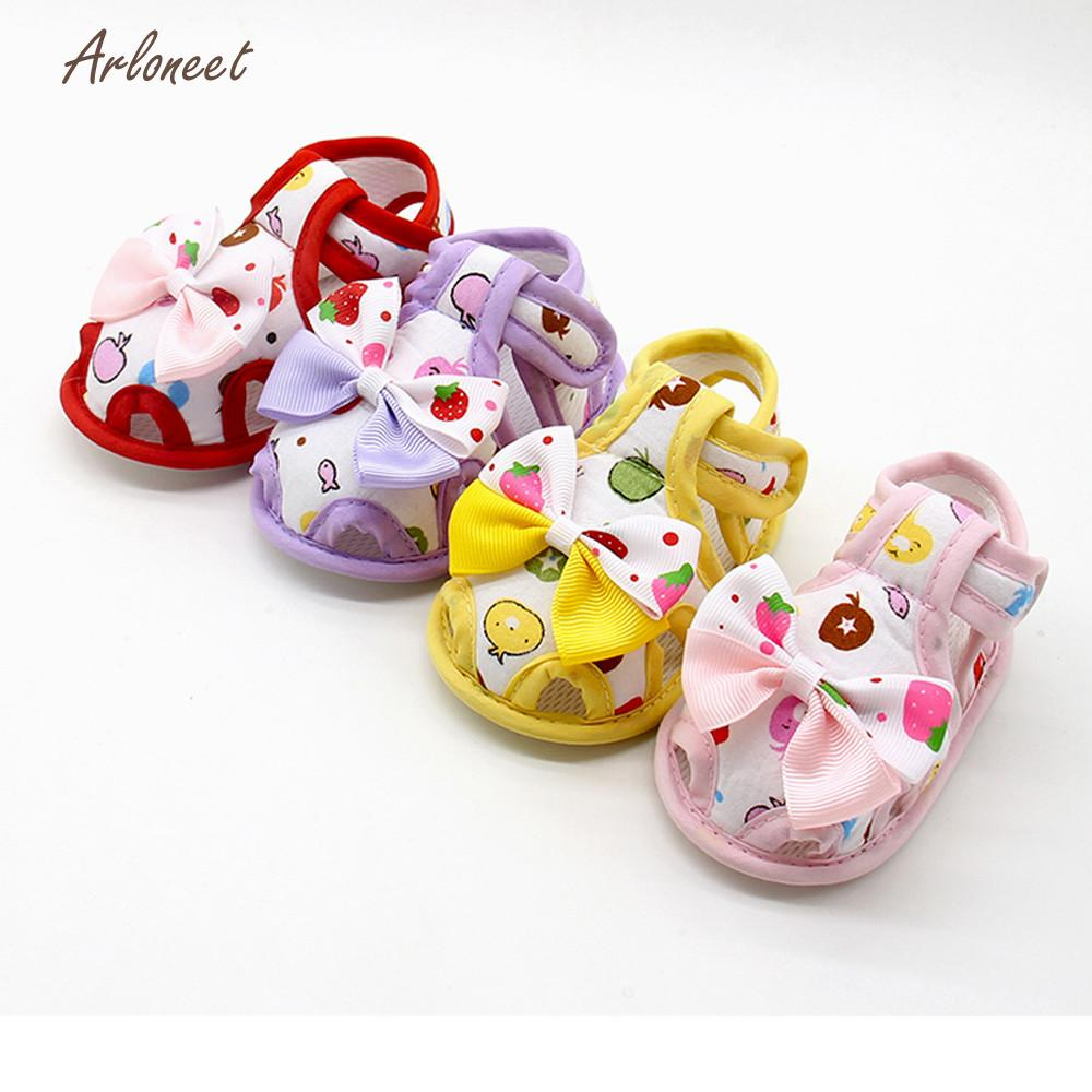 ARLONEET baby boy shoes fashion baby shoes Soft baby girl shoes first walker Summer Sole Toddler Anti-slip Shoes  JA5