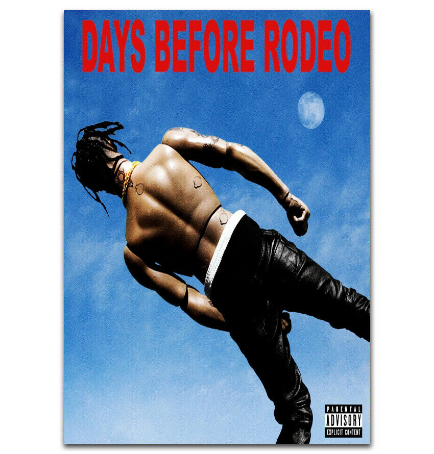 q1497 posters and prints new travis scott days before rodeo rap music album art poster canvas painting home decor