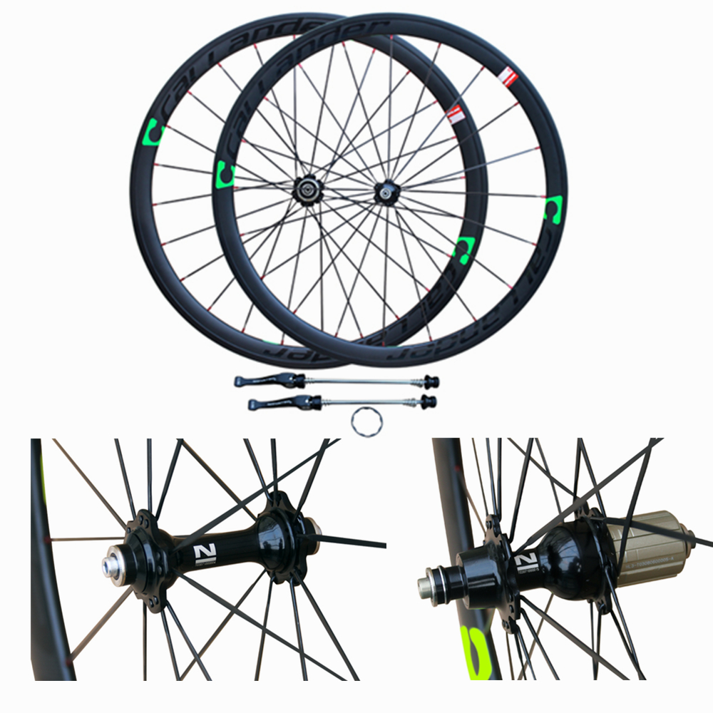 CALLANDER Novatec Hub 700C 48mm clincher rims Road bike matt 3K full carbon bicycle wheelsets 38 50mm width