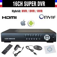New CCTV AHD DVR 16 Channel H 264 960h 16ch SDVR NVR HVR 4in1 Video Recorder