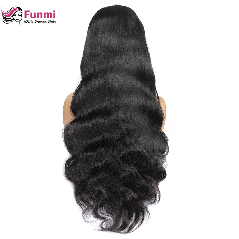 Funmi Body Wave Lace Front Human Hair Wigs 360 Lace Frontal Wigs 150 Density For Black