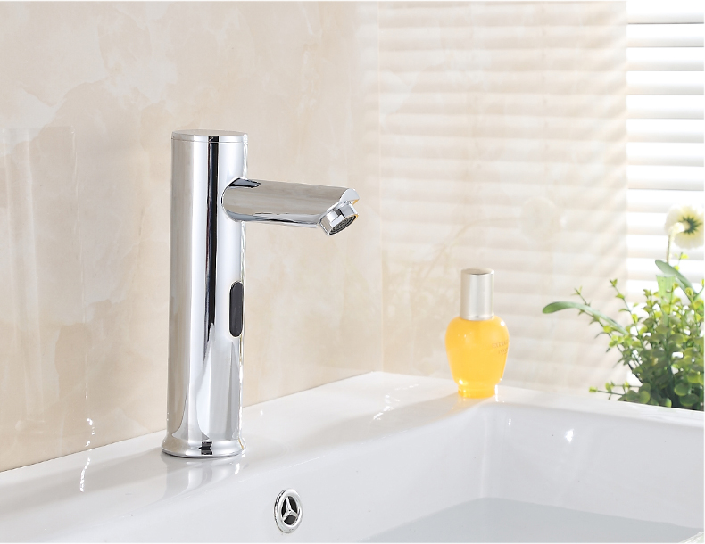 7 Faucet Finishes For Fabulous Bathrooms: Sensor Basin Faucet Single Handle For Bathroom Lavatory