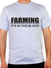 Mens Graphic Tees  S Male Style Farming It In The Blood Agriculture Farm Harv Short Men Crew Neck Summer Tee Shirt