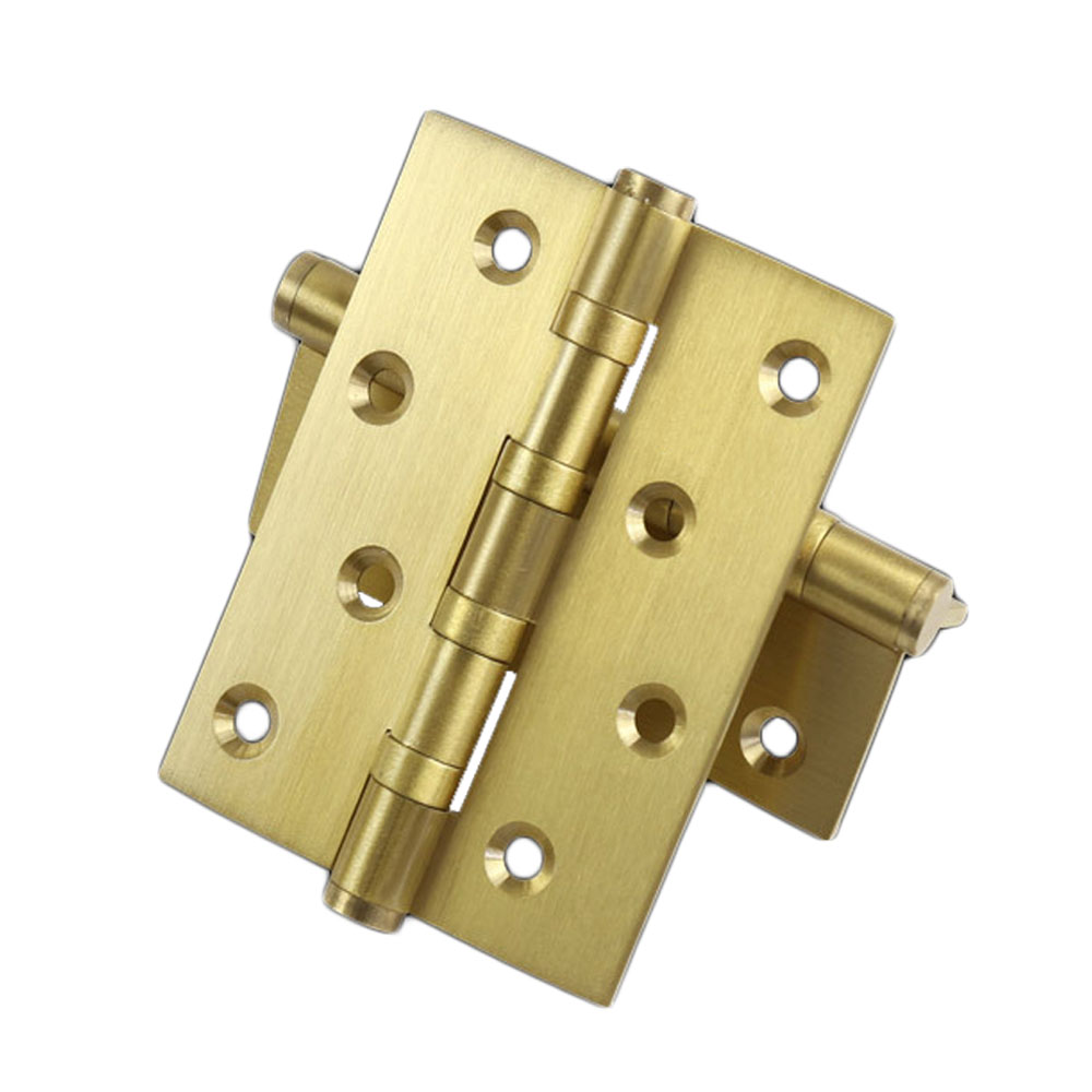 20Pairs ball bearing hinge 4 Inch Full Copper Wood door hinges Gold color heavy Entry door hinge Brass door hardware hide mini hardware copper plate hinge rationing concealed hinge pillar bucket cross word brass hinge
